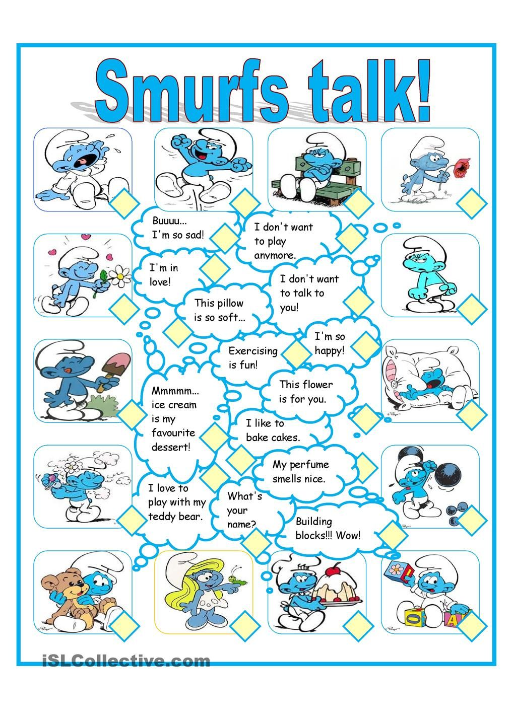 the smurfs | interesting english | Pinterest | Smurfs, Worksheets ...