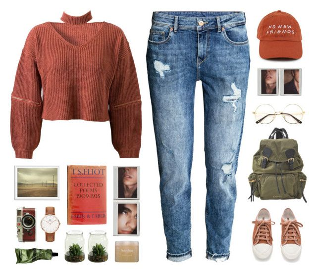 """// u n t i t l e d #1063 //"" by theonlynewgirl ❤ liked on Polyvore featuring H&M, WithChic, Polaroid, Burberry, Leica, Aesop and Natura Bissé"