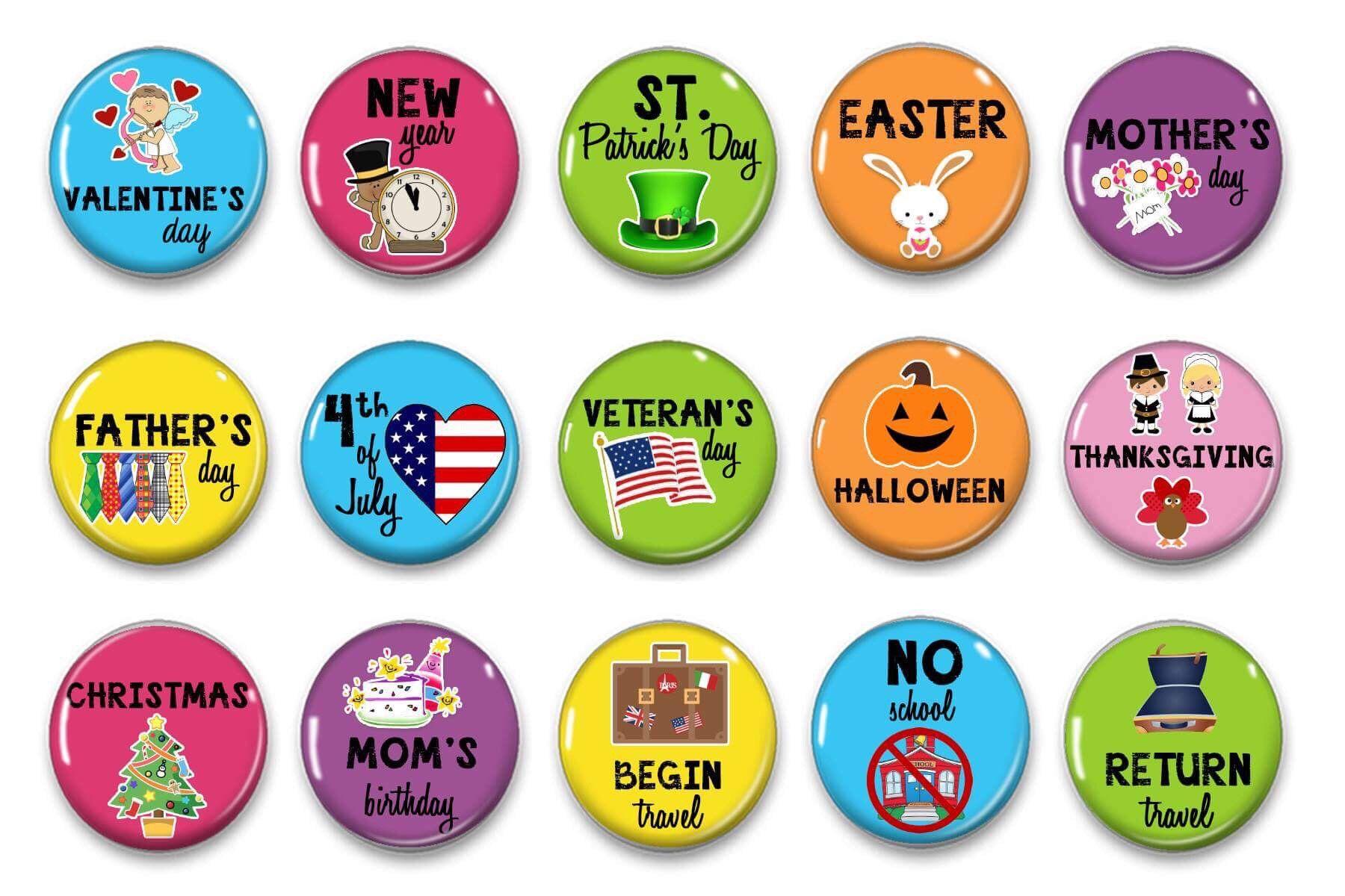 Calendar us holidays classroom perpetual