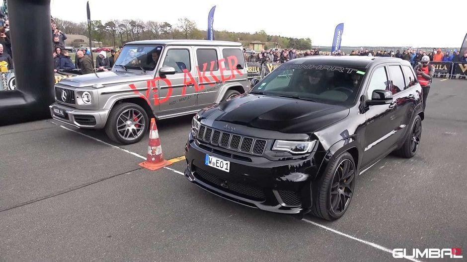 تحدي سيارات Suv عالية الأداء يكشف من الأسرع G63 أم جيب تراكهوك G63 Amg Mercedes Benz Jeep