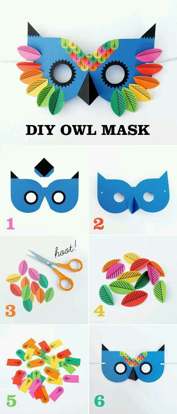 10 Mixed Bright Card Carnival Masks to Decorate for Kids Crafts SALE