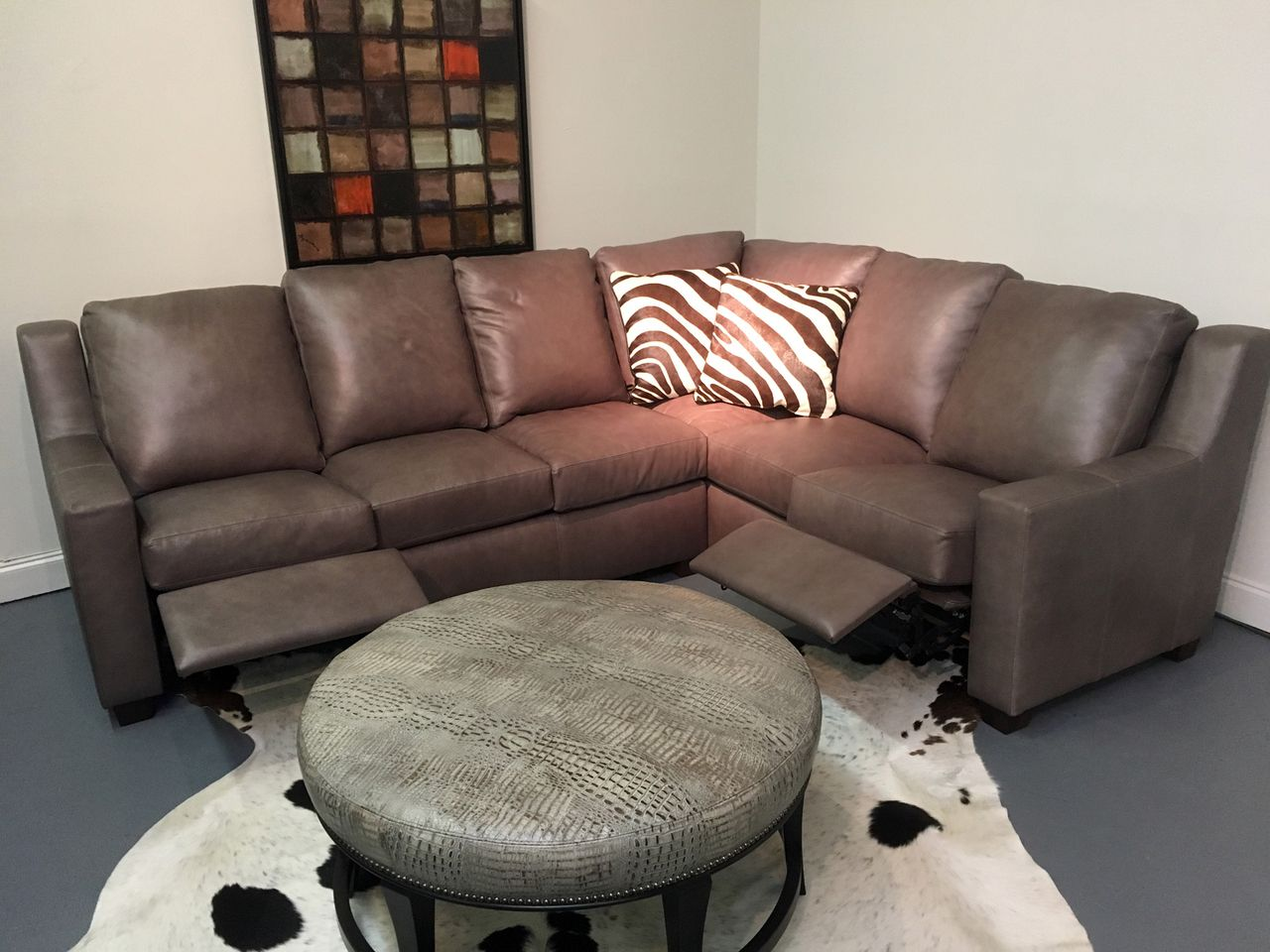 Maxine Recliner Leather Sectional American Heritage Made In The Usa