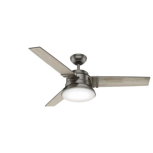 Hunter Reg Clanton 52 Brushed Slate Ceiling Fan With Light And
