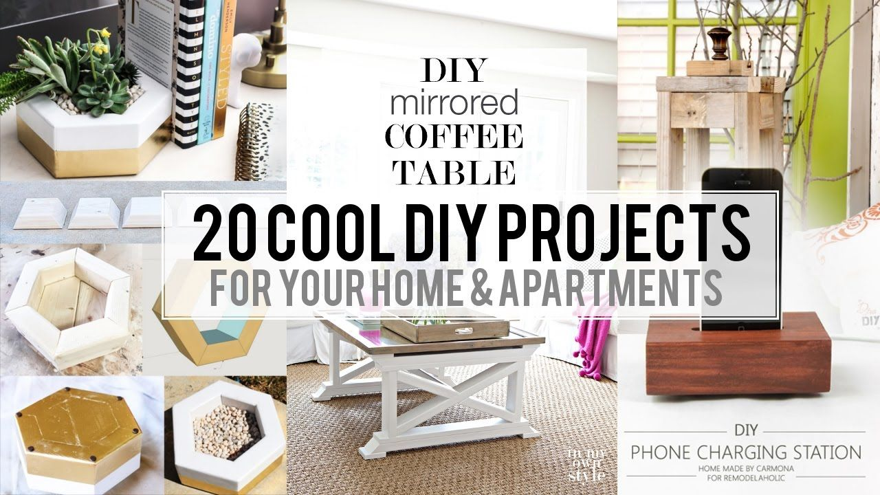20 Cool Home Decor Diy Project Youtube Decor Diy Home Decor Bedroom Decor Living Room Decor B In 2020 Home Goods Decor Diy Home Decor Projects Diy House Projects