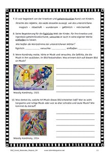 Daz Und Kunst Abstrakte Malerei Kunstunterricht Musik Und Kunst Kunstprojekt Fur Kinder