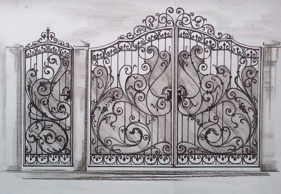 Pin de Pontypridd Wrought Iron en wrought iron gates Pinterest - rejas de madera