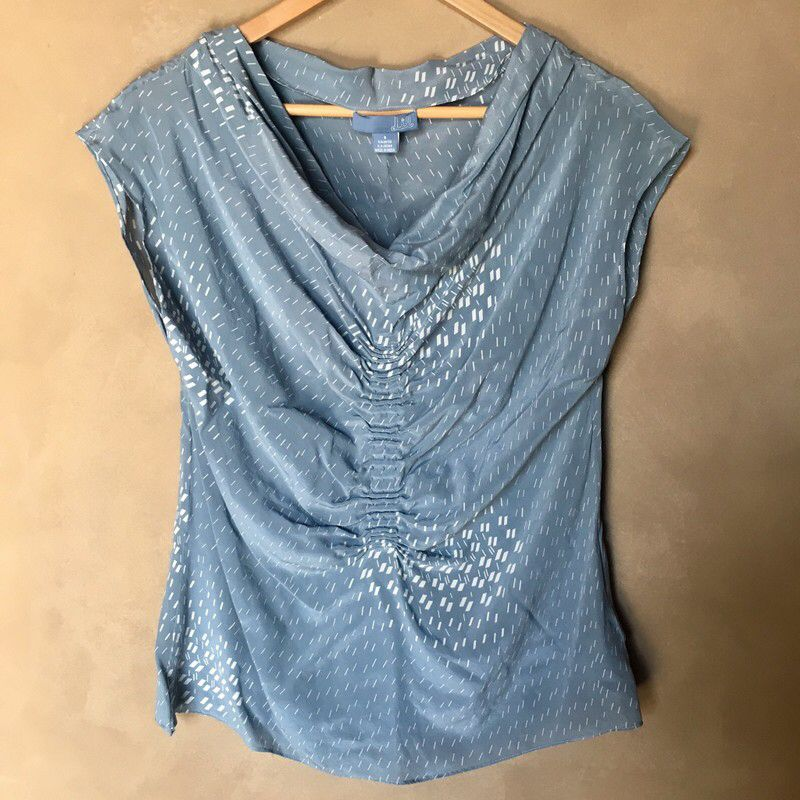 5fb8df2decf8 My Anthropologie lil silk top by Anthropologie. Size M / 8 for $$18.00: