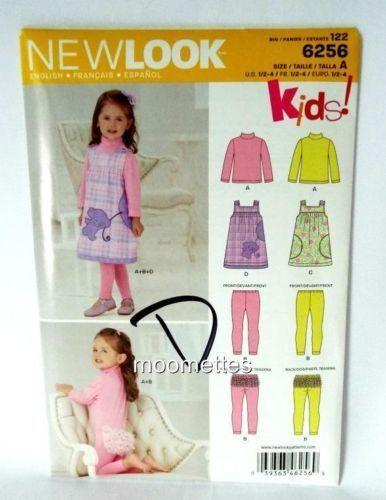 Simplicity 6256 Play Jumper Dress Pants Sewing Pattern Girls 1 2 3 4 Uncut FF