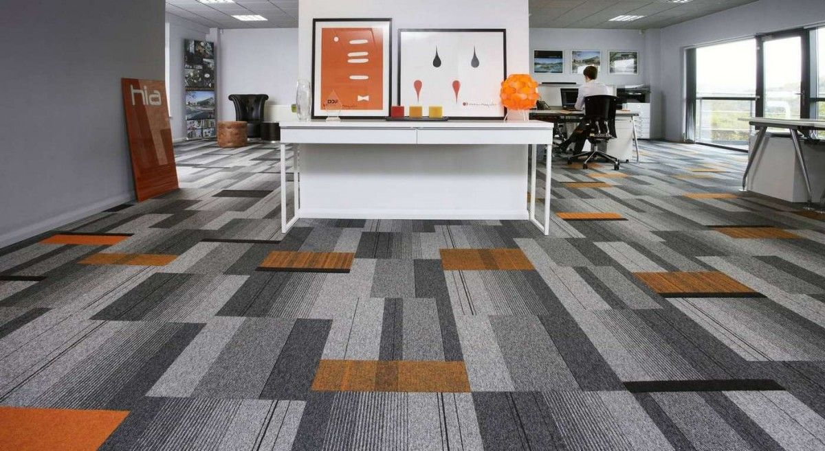 Burmatex Balance Atomic Carpet Tiles With Splashes Of Ornage Structure Bonded Ibbotson Architects Derbys Carpet Tiles Carpet Tiles Design Carpet Tiles Office