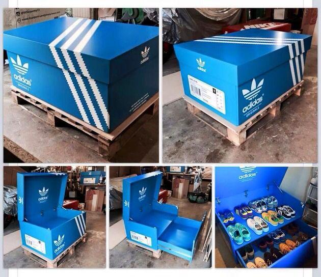 Great Adidas shoe cabinet | Idee legno, Idee, Progetti