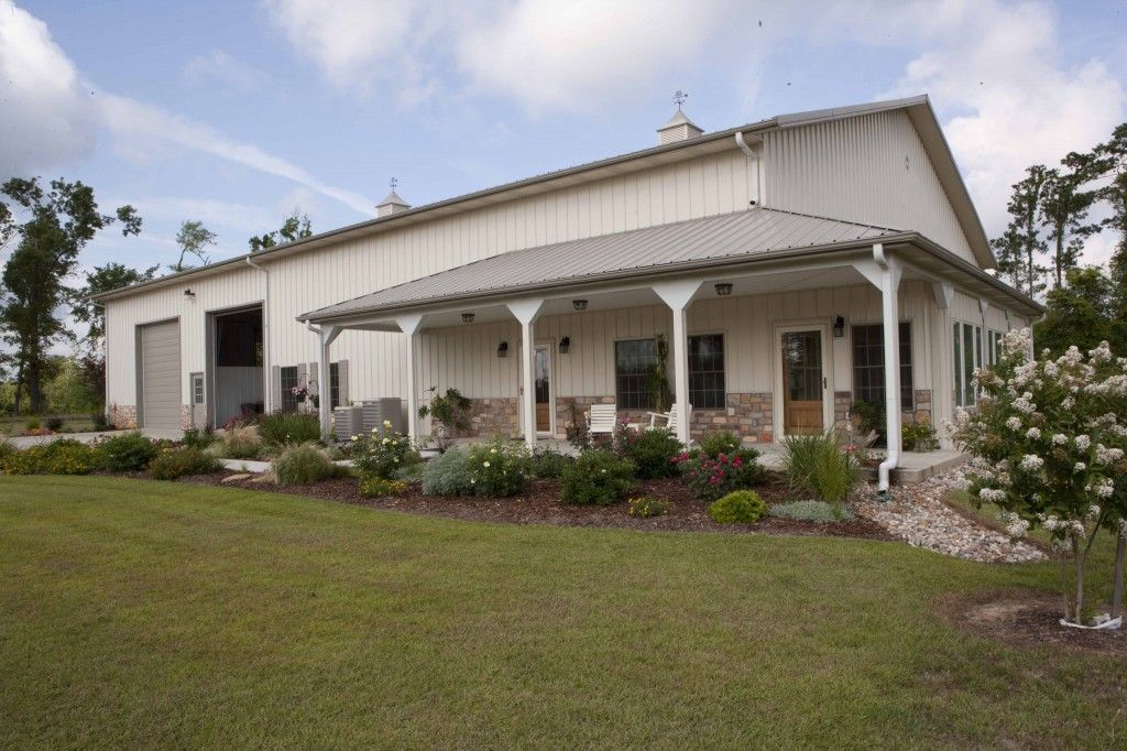 Morton buildings home horse barn combo in texas homes for Metal building homes