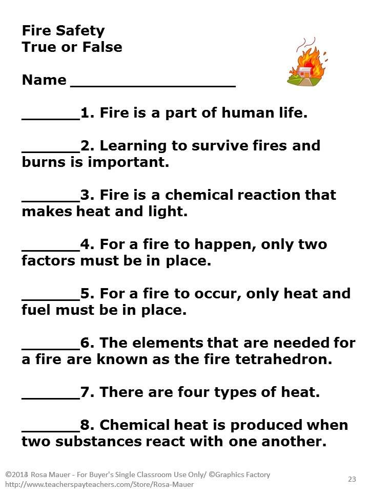 Fire Safety Merit Badge Series – Fire Safety Merit Badge Worksheet