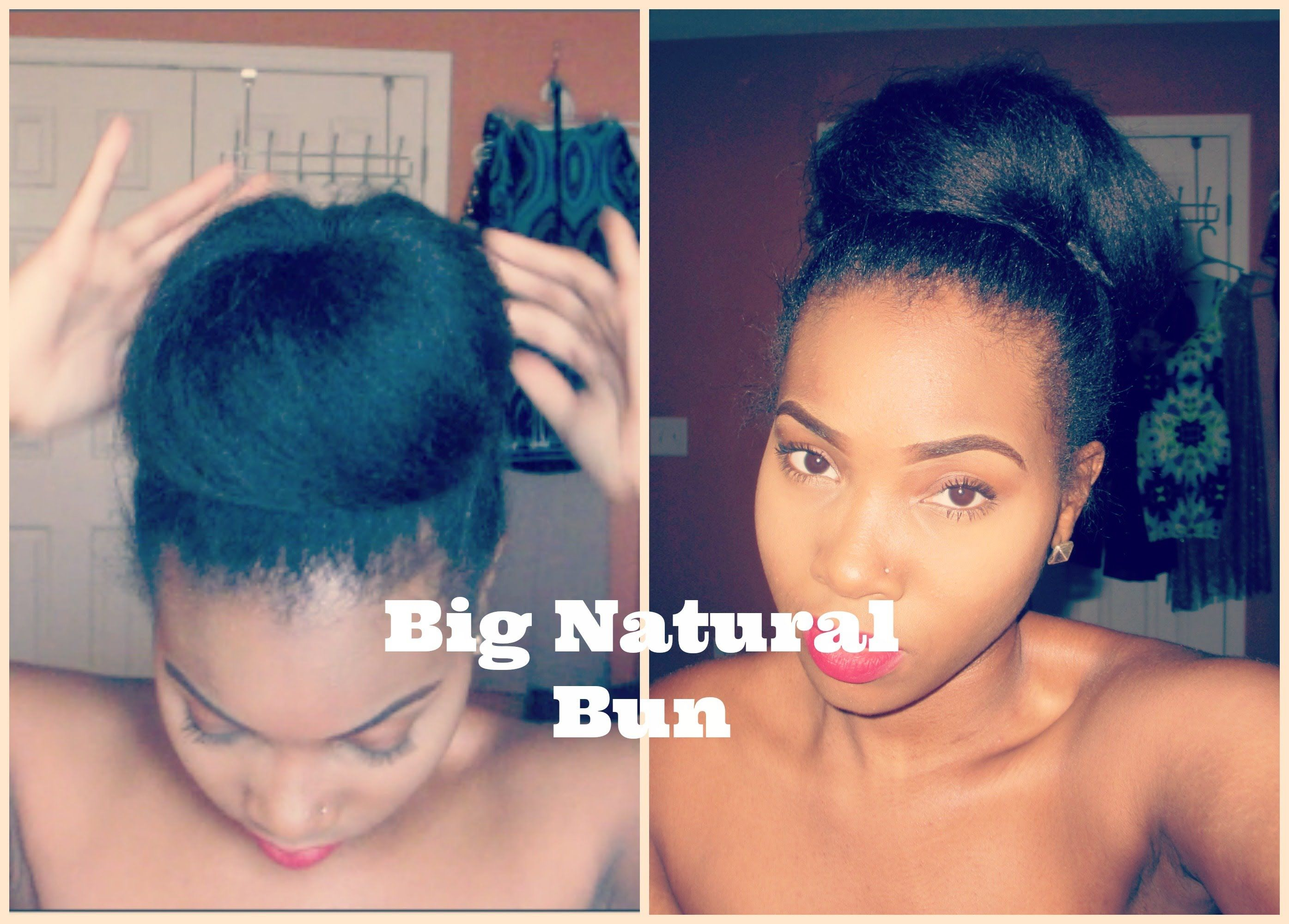 Easy big bun make hair appear longeru fuller hair inspirations