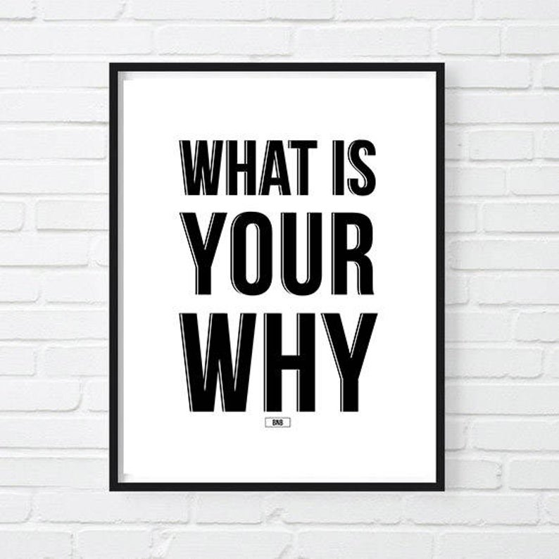 What Is Your Why Office Decor Motivational Poster Inspirational Quote Wall Decor Gift For Boss C In 2020 Work Quotes Work Quotes Funny Office Motivational Quotes