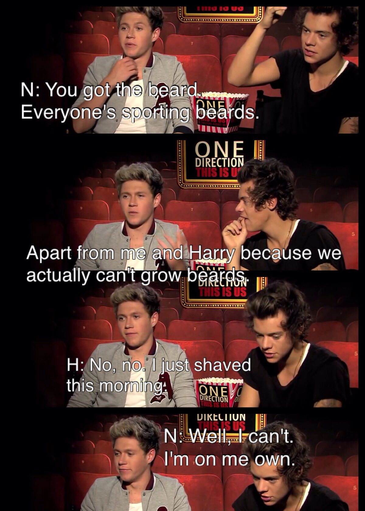 Image of: Interview One Direction Funny Moments Of 2013 Funny Interview One Direction Interview Harry Styles Niall Horan Zayn Malik Liam Payne Louis Tomlinson Niall Pinterest Awe Poor Niall One Direction Funny Moments Of 2013 Funny
