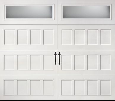 Amarr Oak Summit Recessed Panel Obscure Reo 8x7 Garage Doors Residential Garage Doors Garage Door Styles