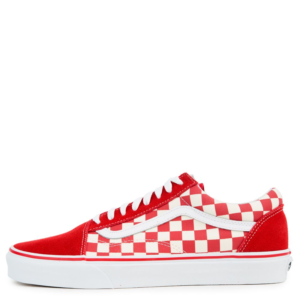 Vans Old Skool Racing Redwhite | Vans old skool, Red old