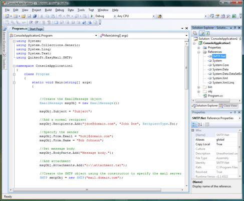 Https Developer Team Dotnet 24899 Quiksoft Easymail Net Developers Bundle Html Development Developer Tools Microsoft Visual Studio