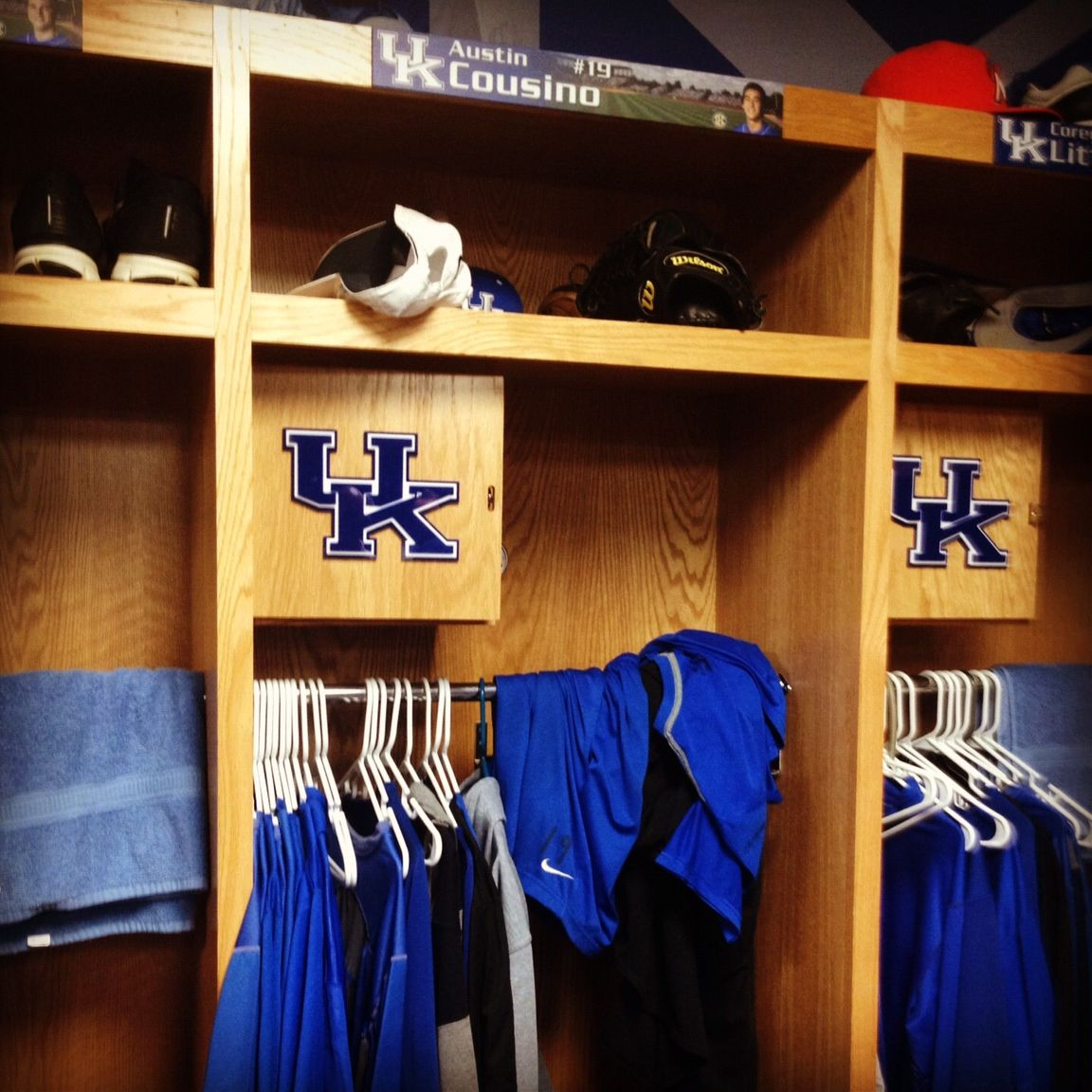 Our 19 His UK Baseball Locker Room During Parents Tour Fall Ball Weekend