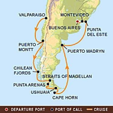 cape Horn south America clipart | South America Cruise on the