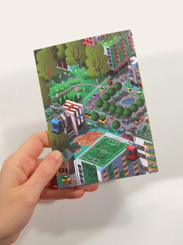 Movium Booklet Illustration   Nils-Petter Ekwall #nils-petterekwall #illustrazione #mappa #3d #infografica