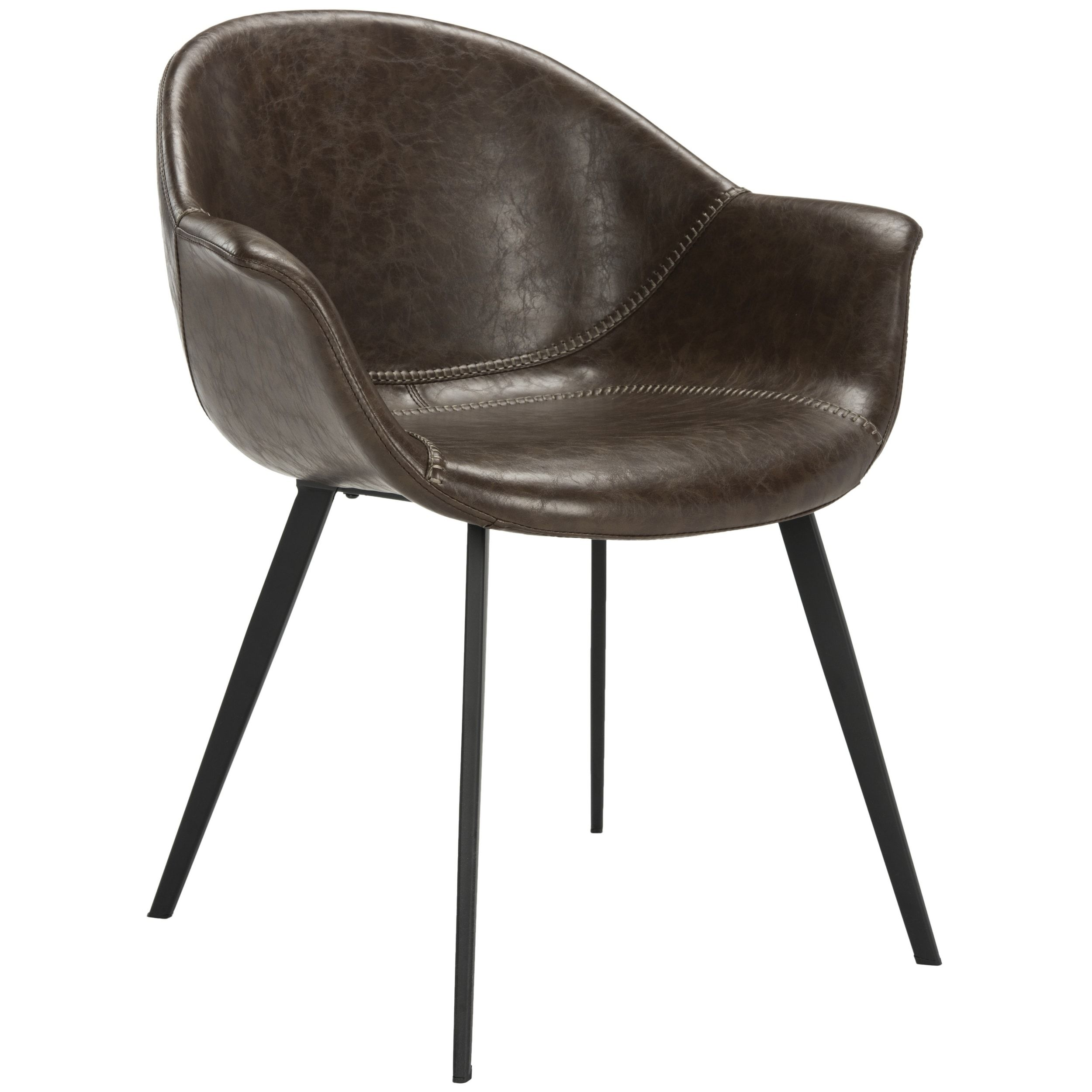 Fantastic Safavieh Dublin Mid Century Modern Leather Dining Tub Creativecarmelina Interior Chair Design Creativecarmelinacom