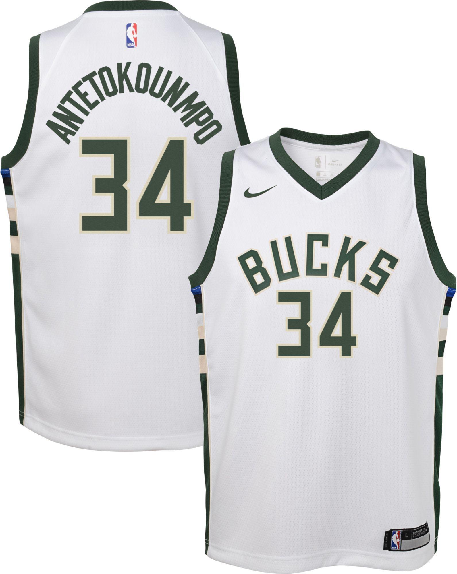 65d17309725 Nike Youth Milwaukee Bucks Giannis Antetokounmpo  34 White Dri-FIT Swingman  Jersey