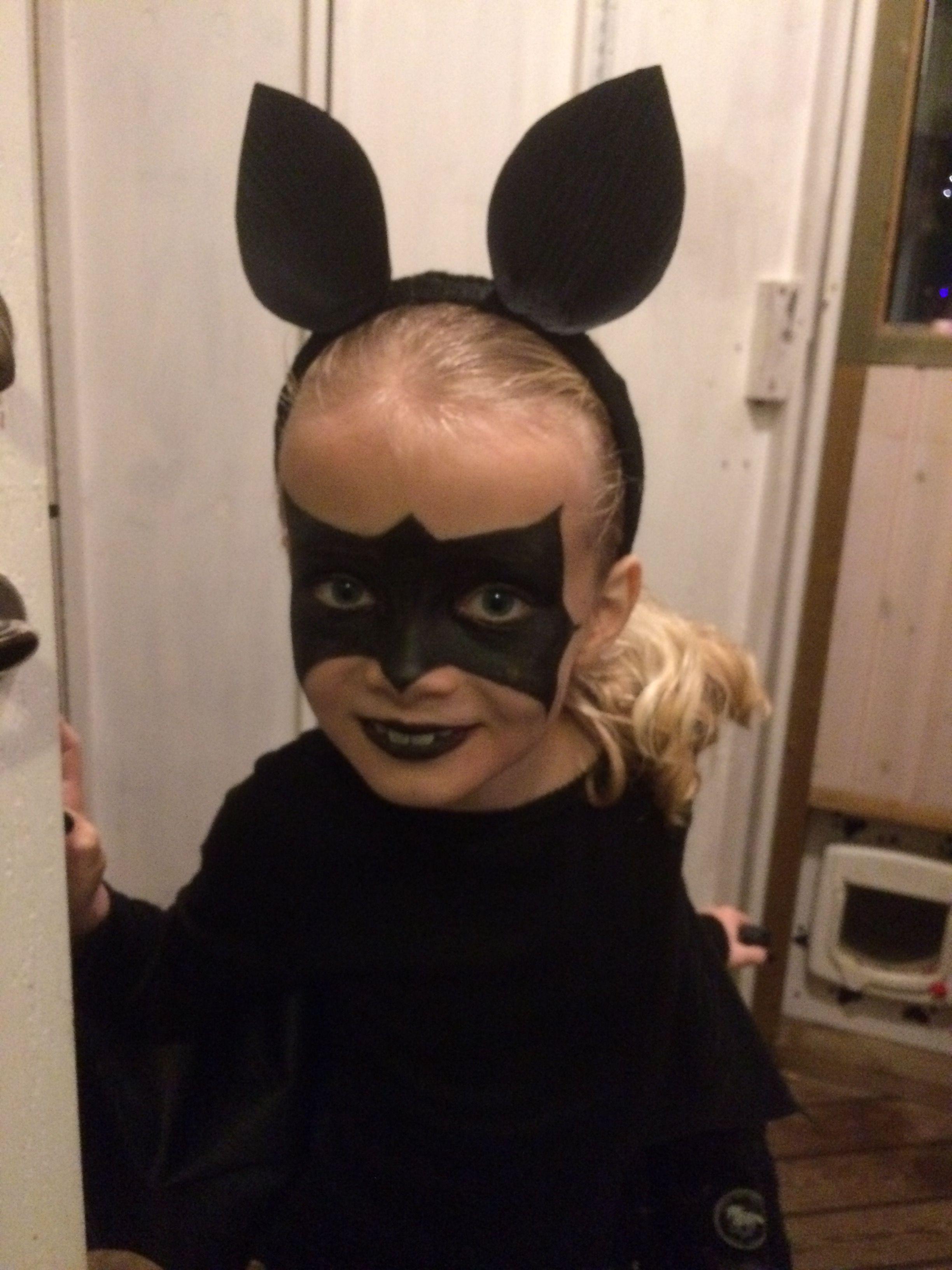 Halloween Maskerad.Maskerad Utkladd Fladdermus Bat Ansiktsmalning Diy Crafts