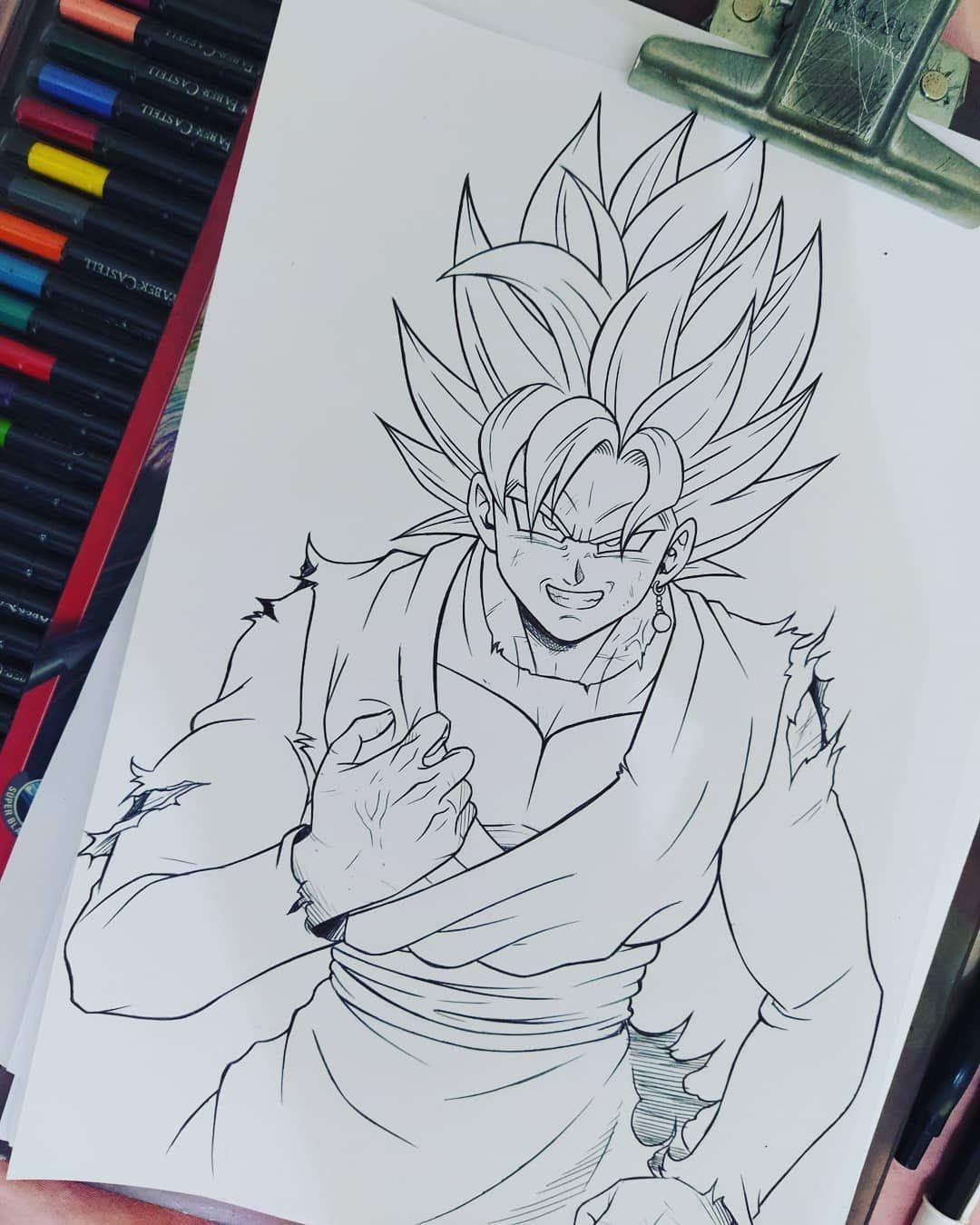 Goku Black #goku #anime #dbz #dragonball #art #animebrasil #follow #follow4like #artist #manga #animeart #animes #dragonballz #bic #fabercastell #artink #tattoo #tattooink #onixtattooink