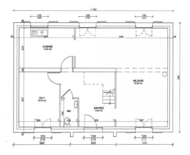 Idée relooking cuisine Cette maison R1 moderne avec son fronton - des plans des maisons modernes