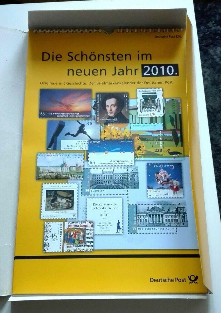Details zu Briefmarken Kalender 2010 mit 12 Ersttags