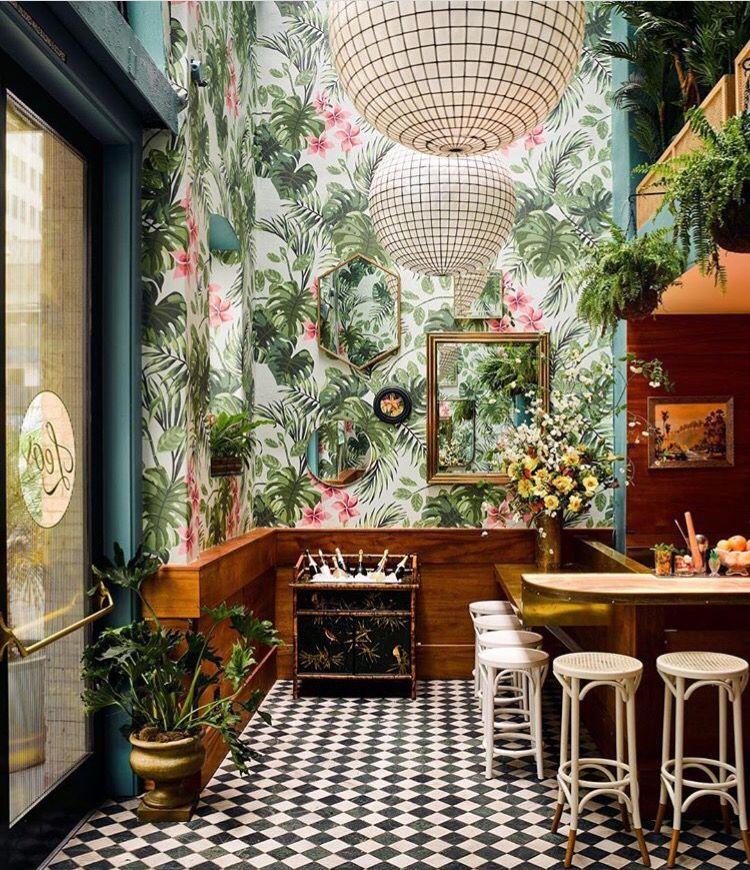 Tiki But Cool Bar Design Restaurant Tropical Home Decor Restaurant Interior