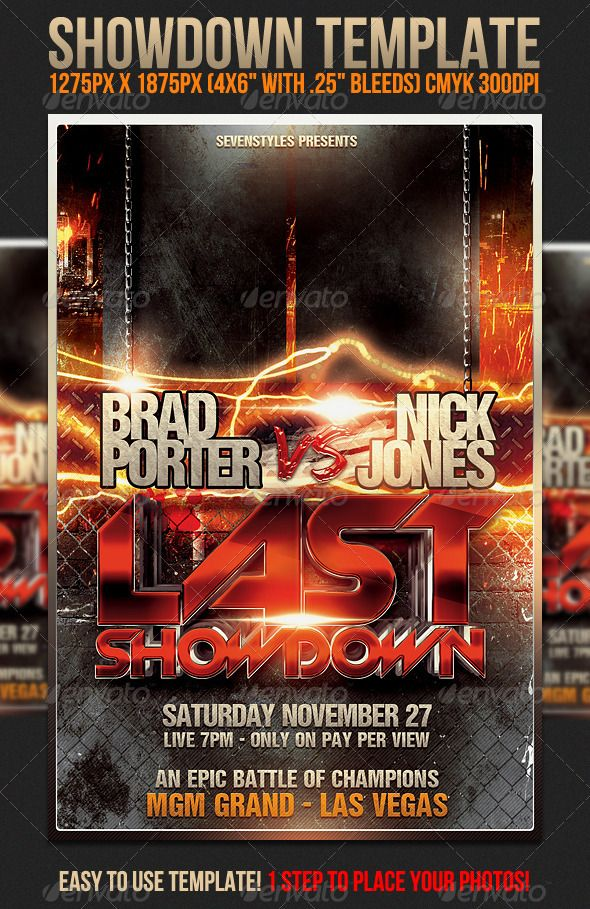 Showdown Flyer Template | Pinterest | Flyer template, Template and ...