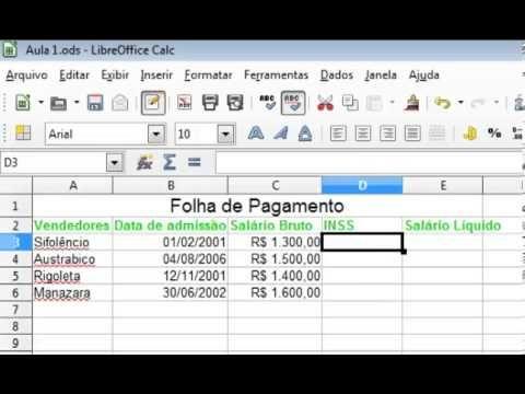Libre Office Calc Aula 4 - Fórmulas Básicas LIBRE OFFICE Pinterest - new libre office resume template