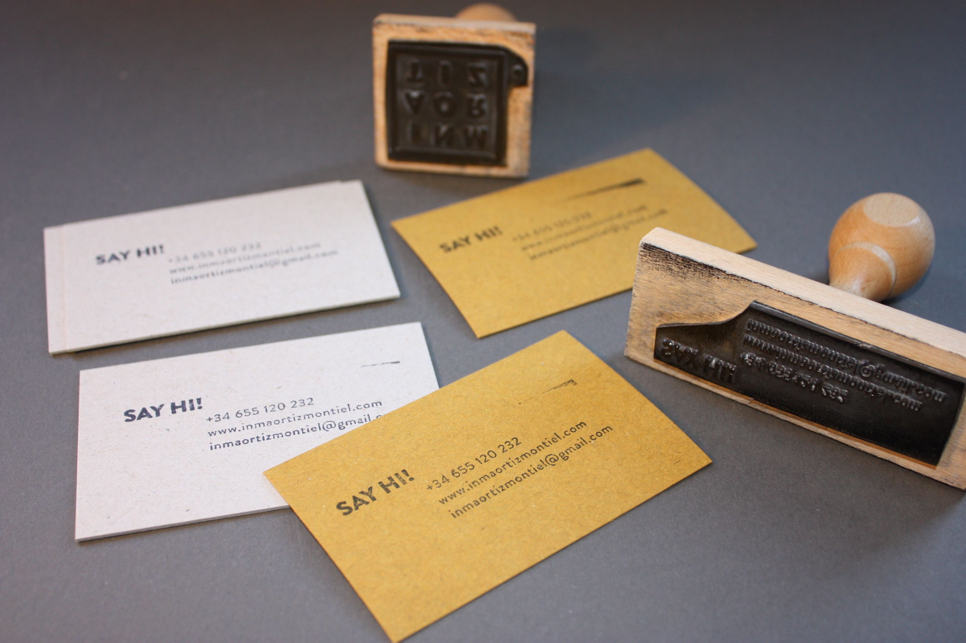 Business card design Rubber stamps and cardboard Stamps: Quilez ...