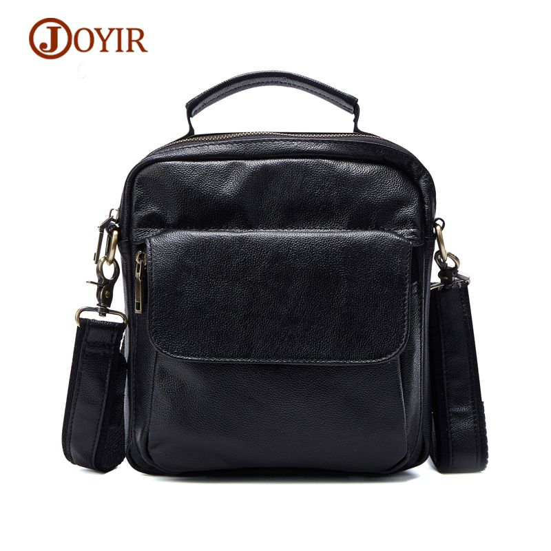 man neck JOYIR Top-Handle Bags Men Genuine Leather Messenger Bag Crossbody  Fashion Zipper Tote e315df26881dc