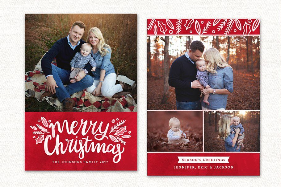Christmas Card Template Cc140 Christmas Card Template Christmas Holiday Photo Cards Holiday Photo Cards