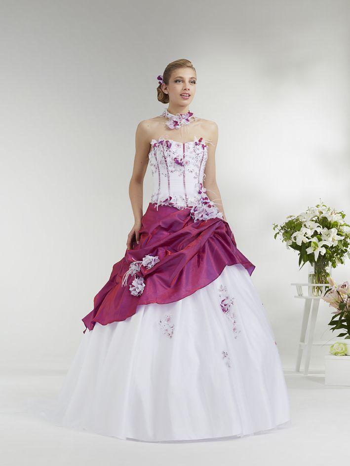 Robe mariage pas cher bordeaux | Bridal dresses,