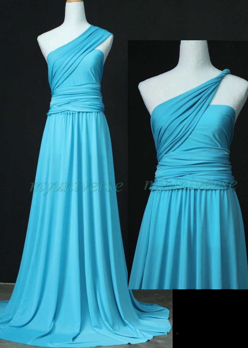 Blue wedding infinity dress maxi dress wrap convertible dress
