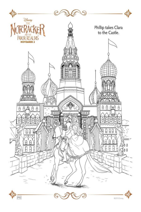 The Nutcracker And The Four Realms Holiday Coloring Pages Castle Coloring Page Christmas Coloring Pages Disney Coloring Pages