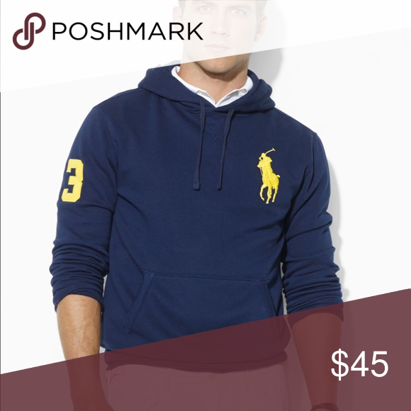 3695ee57854 Ralph Lauren Polo Big Pony Fleece Beach Pullover Ralph Lauren POLO pull over  fleece hoodie. Big Pony collection. Worn about 10x. No flaws. Navy blue  with ...