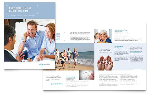 Estate Planning Brochure Template Design Layout Ideas