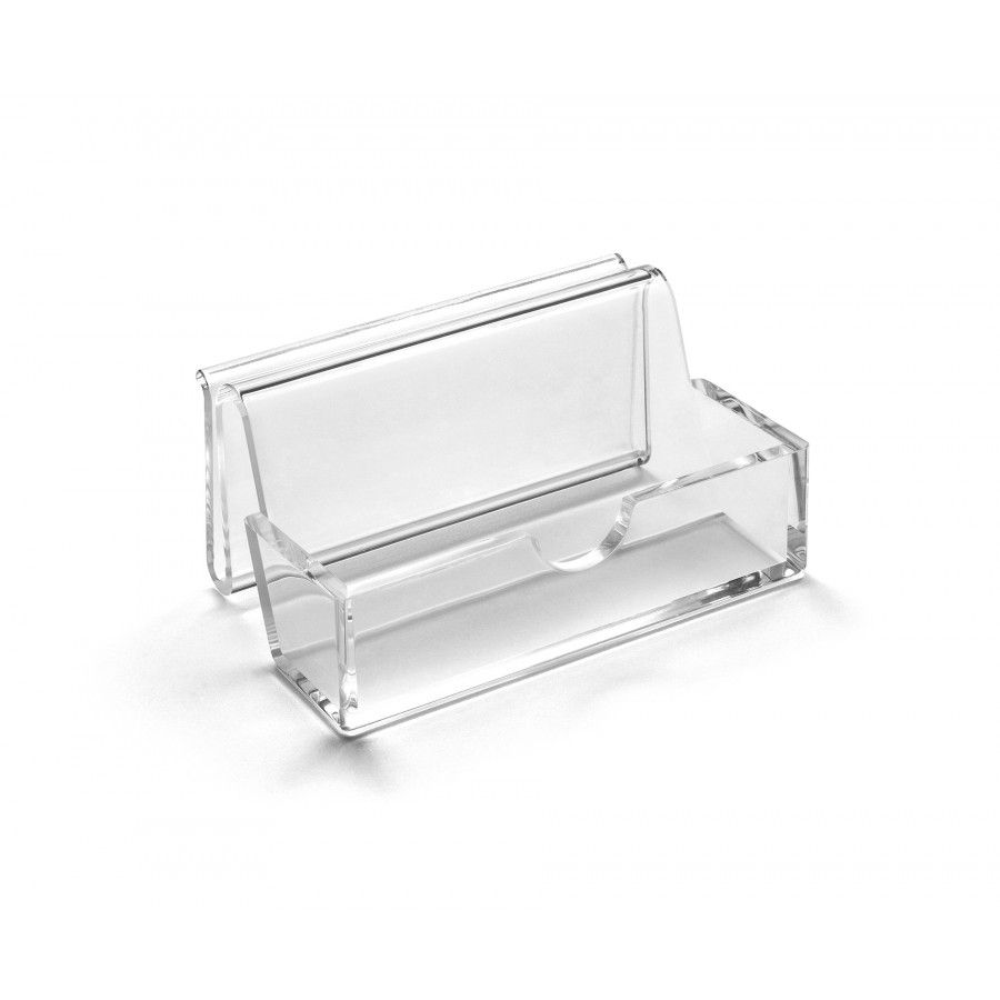 Osco Acrylic Name Card Holder - Desk Tidy - Desk Organisers & Storage - Desk Accessories - Office Supplies