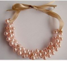 e4a748cf0406 Cómo hacer un collar de perlas DIY | pulseras y collares | Collares ...