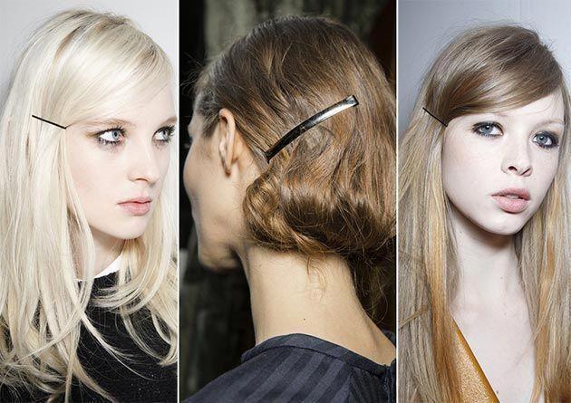 #haarschmuck #hairaccessoriestrends #herbst #trends #winter Herbst / Winter 2014-2015 Haarschmuck Trends: Bobby Pins # Modetrends #Haaraccessoires #Trends #winterhaircolor #platinumblondehighlights