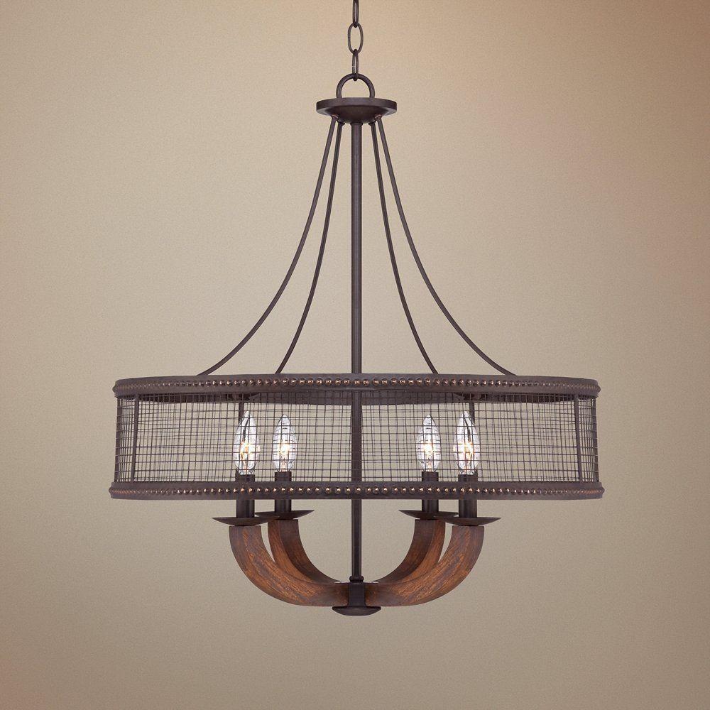 Frankton industrial 22 wide bronze chandelier industrial