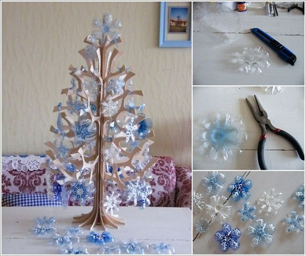 Recycled Christmas Craft Ideas Part - 31: Creative Plastic Bottle Christmas Craft Ideas