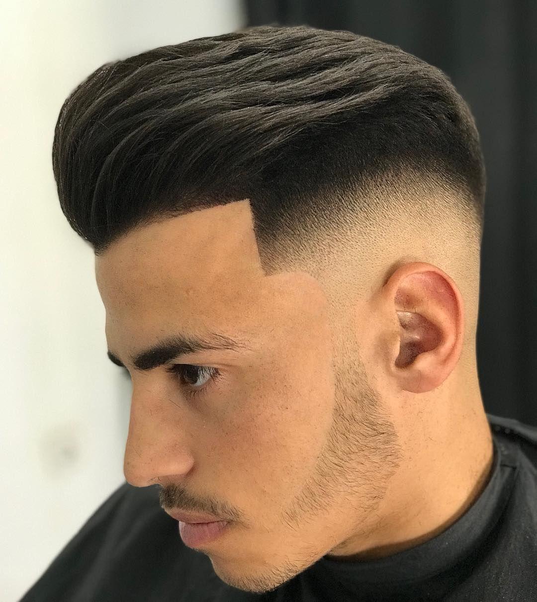 Men's pompadour haircut pomp  elegant fade  braided hairstyles art  pinterest  braid