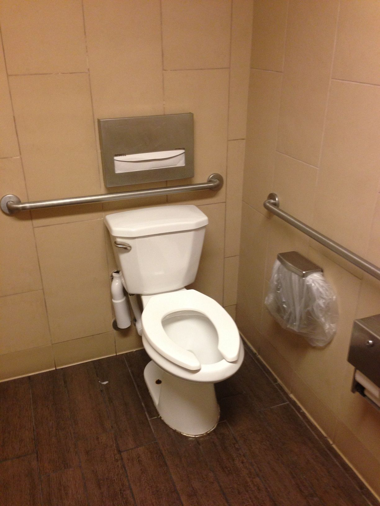 Design Space Bathrooms Ada I Have Seen This In Bathrooms A Lot The Seat Cover Dispenser Is Mounted Upsid Grab Bars In Bathroom Ada Bathroom Bathroom Seat