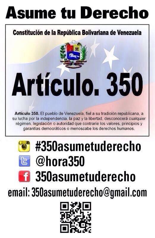 A ORGANIZARNOS para el #11A  #350AsumeTuDerecho Llegó la @Hora350 Lee  aquí: http://www.twitlonger.com/show/n_1s16rk7  pic.twitter.com/pLslQW7Vus @Luis Rafael Monch Orta
